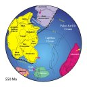 Earth's continents 550 million years ago